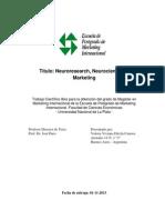 Neuroresearch, Neurociencias y Marketing