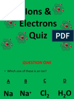 Ions & Electrons Quiz