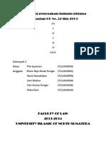 Kebijakan penegakan hukum pidana Terhadap UU No.32 thn 2009