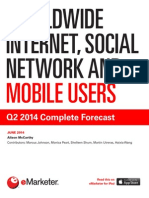 EMarketer Worldwide Internet Social Network and Mobile Users-Q2 2014 Complete Forecast