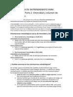 Metodología de Trabajo de Fuerza Para Hipertrofia. 2º INTENSIDAD y VOLUMEN