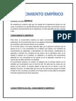 Concepto de Empírico Imprimir