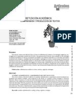 Alfabetización Académica (Caldera y Bermúdez, 2007)