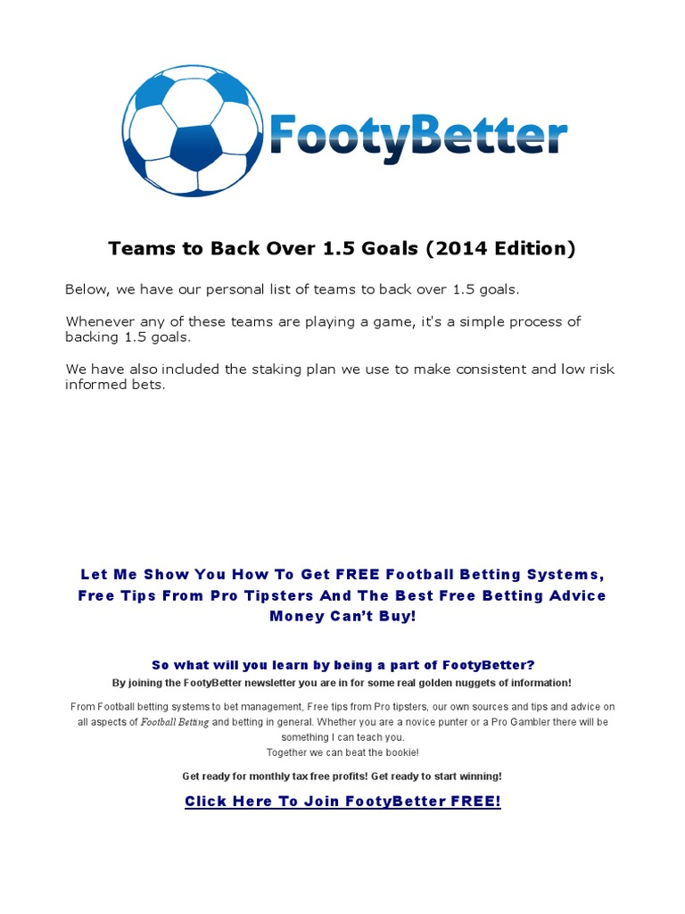 goals galore betting system