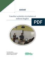 Rapport - Concilier Activitée Récréatives Et Milieux Fragiles