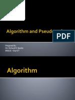 Algorithm and Pseudo Codes