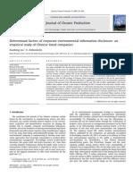 12Determinant Factors of Corporate Environmental Information Disclosure An