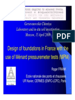 Design of foundations in France with the