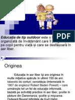 educatia outdoor