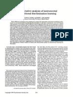 An Associative Analysis of Intrumental Learning
