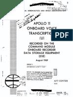 Apollo 11 Onboard Voice Transcription