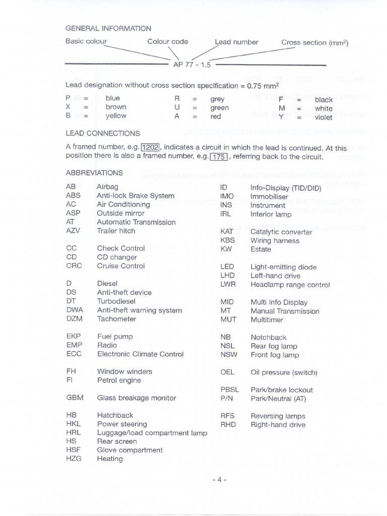 opel vectra b wiring diagram rh scribd com Subaru Wiring Harness Diagram ECU Pinout
