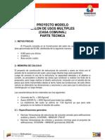 Proyecto Modelo Salon Usos Multiples