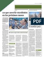 En Qué Invertir Excedentes en Los Próximos Meses_Gestión 16-07-2014