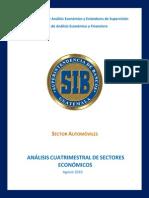 Estudio Del Sector Automóviles, Referido a 2010-08