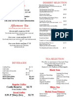 Tea Menu July 2014