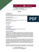 Human Rights in Humanitarian Crises 4 Program - 2014
