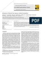 Adsorption of Fluoride From Aqueous Solution by Graphene