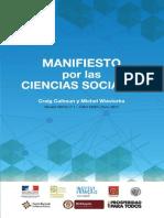 Manifiesto Por Las Ciencias Sociales. Wieviorka y Calhoun%2c Paris%2c13-14