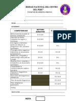 Ficha de Evaluación de Prácticas Clinica Quirurgica