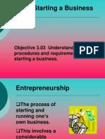 EBT 3.03 Starting a Business