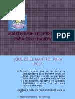 mantto. prev. a cpu
