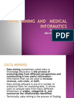 Medical Informatics application  of  data  ining  in  health  care