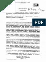 Resolucion Corpocesar 0744 Del 20 de Junio de 2014