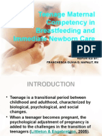 Teenage Maternal Competency in Breastfeeding and Immediate Newborn