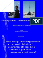 Aplications of Casing Drilling