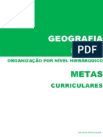 Metas Curriculares Geografia - 8º Ano [organizadas por nível hierárquico]