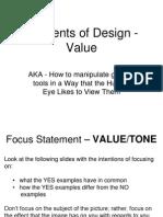 elements of design value
