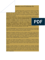 Balance Económico en El Gobierno de Fujimori