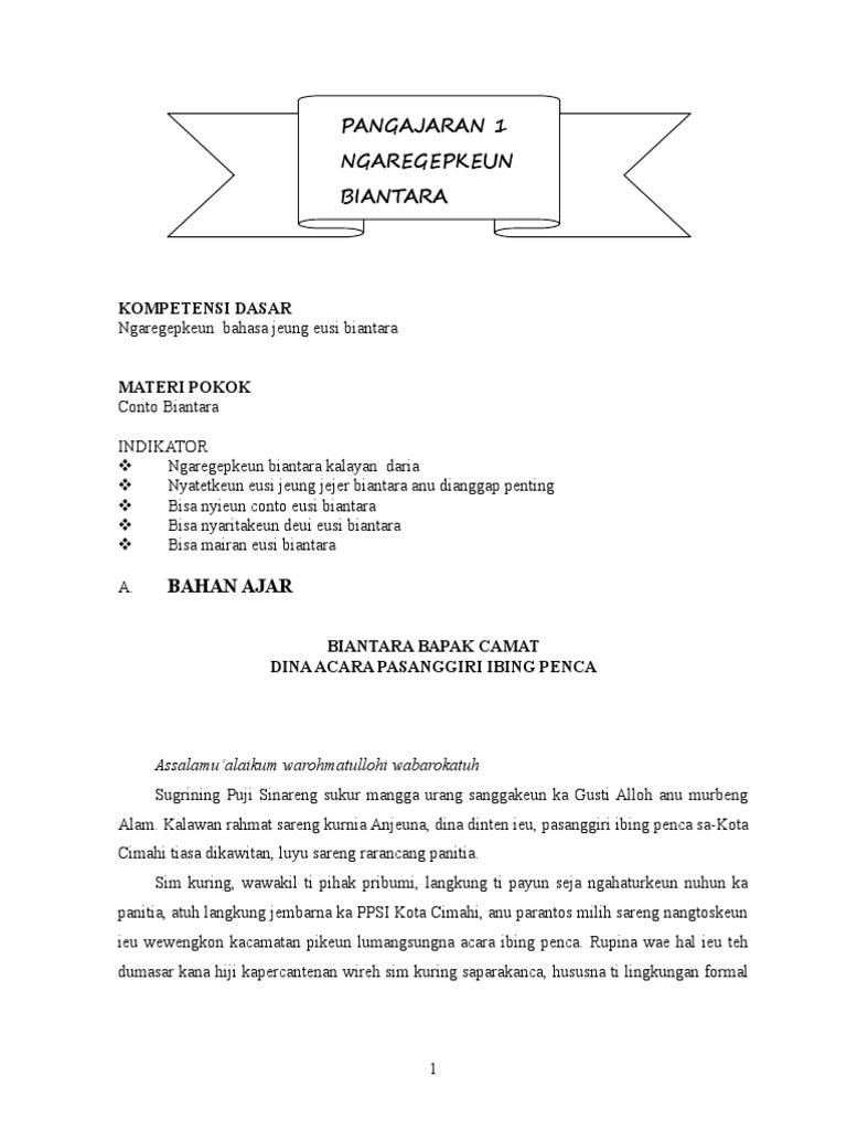 Modul Pangajaran Basa Sunda