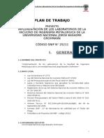 Plan de Trabajo Metalurgia