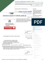 Falla Televisor Panasonic CT-20G23W, Pantalla Roja - Reparación de TV - YoReparo