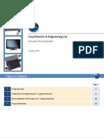 Investor Presentation - Lloyd Electric Engg Ltd