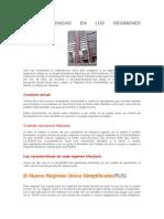 Diferencias Regimenes Tributarios - Ventajas y Desventjas