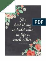 Chalkboard Quote Print