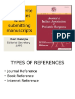 References Style and writing guide