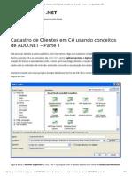 Cadastro de Clientes Em C# Usando Conceitos de ADO.net – Parte 1 _ Programando