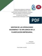 Informe de Ponencia de Operaciones Aduanales