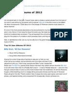 Npr.org-Top 10 Jazz Albums of 2012
