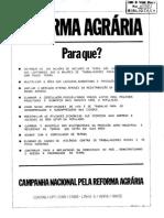 1985 – Síntese Da Proposta Para Elaboração Do Primeiro Plano Nacional de Reforma Agrária - Campanha Nacional Pela Reforma Agrária