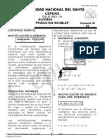 Semana 05 Álgebra Cepuns 2012-III Productos Notables