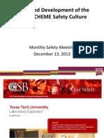 NMSU CHME Safety meeting 12/13/2013