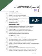 Lowering and Raising Derrick Checklist-Spanish