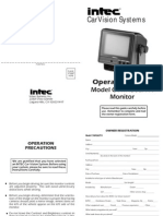 Video_ Rear Monitor Intec Model CVM450LPPA