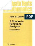 John B. Conway a Course in Functional Analysis 1997
