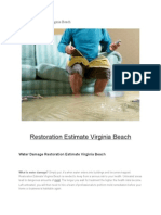 Restoration Estimate Virginia Beach